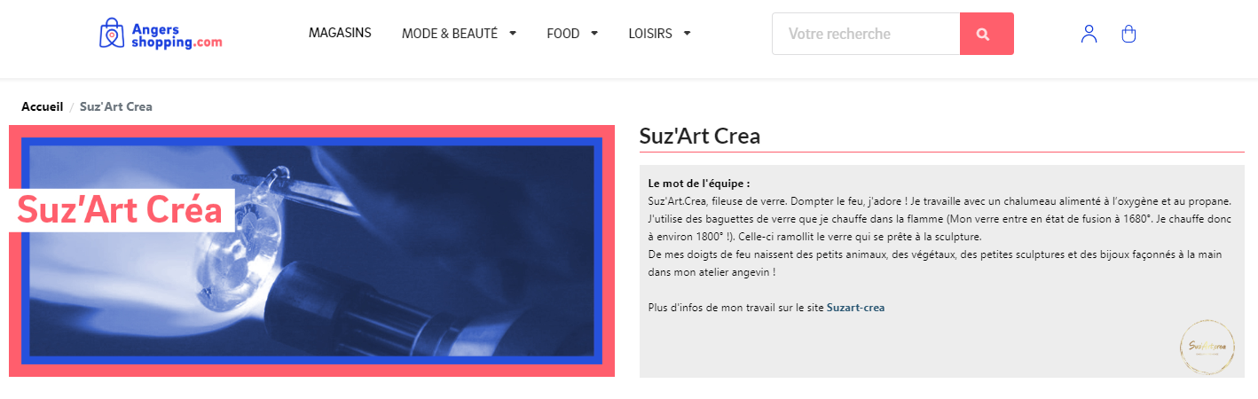 Angers Shopping Suz'Art.Crea